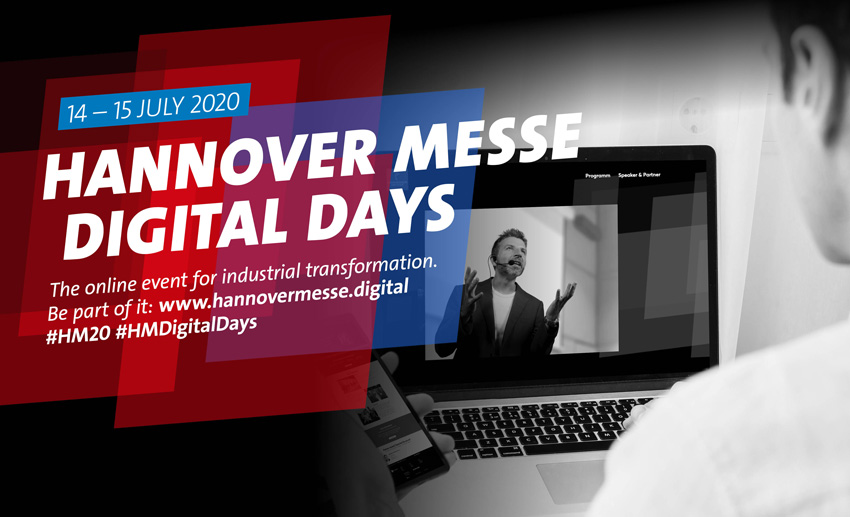 Premiere der HANNOVER MESSE Digital Days am 14. und 15. Juli 2020